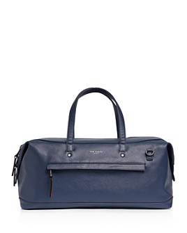 Ted Baker - Patche Crossgrain Leather Holdall