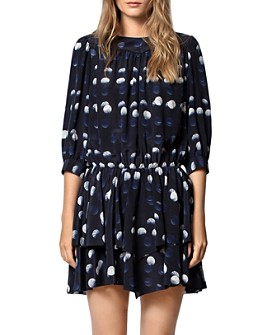 Zadig & Voltaire - Rooka Polka-Dot-Printed Silk Dress