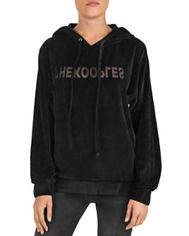 The Kooples - Burnout Velvet Logo Sweatshirt