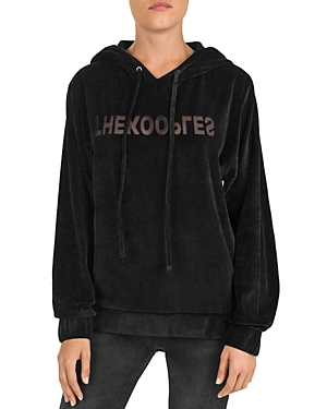 The Kooples Burnout Velvet Logo Sweatshirt