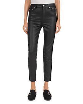 The Kooples - Lizy Mid-Rise Slim-Leg Jeans in Black