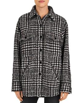 The Kooples - Plaid Button-Down Shirt Jacket