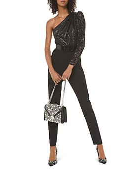 MICHAEL Michael Kors - Sequined One-Shoulder Jumpsuit