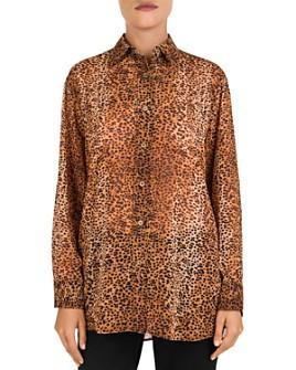 Gerard Darel - Mea Animal-Print Button-Down Shirt