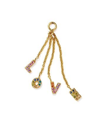 AQUA - Rainbow Love Charm in Sterling Silver or Yellow Gold-Plated Sterling Silver - 100% Exclusive