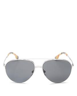 Burberry - Women's Brow Bar Aviator Sunglasses, 59mm