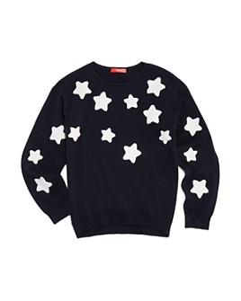 AQUA - Girls' Star Patch Sweater, Big Kid - 100% Exclusive