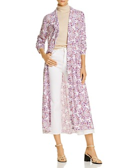 See by Chloé - Paisley Button Front Coat Dress
