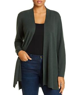 Eileen Fisher Plus - Wool Open-Front Cardigan