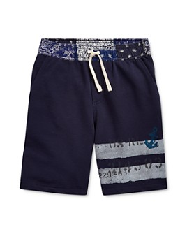 Ralph Lauren - Boys' Bandana-Waist French Terry Shorts - Big Kid