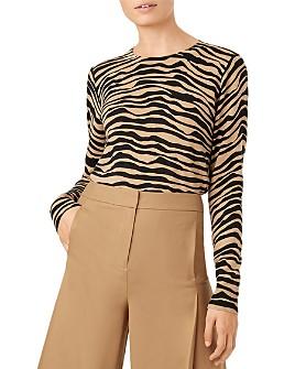 HOBBS LONDON - Zadie Zebra-Stripe Merino Wool Sweater
