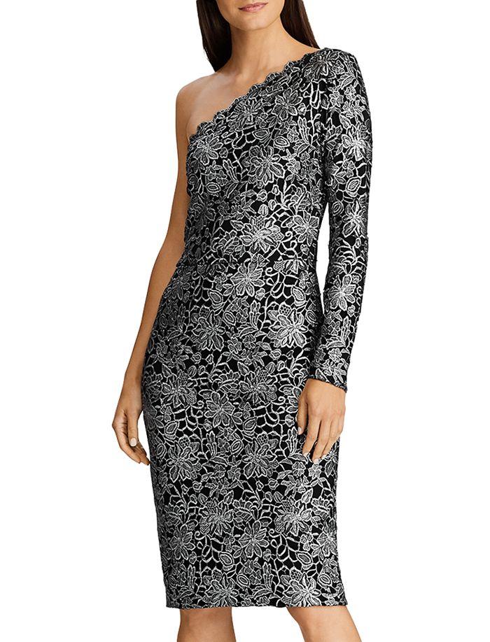 Ralph Lauren - One-Shoulder Lace Dress