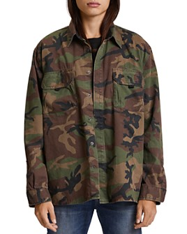 Hudson - Camouflage Slim Fit Shirt Jacket