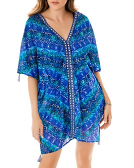 Miraclesuit - Blue Curacao Caftan Swim Cover-Up