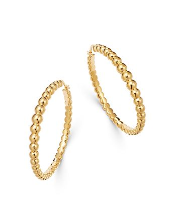 Roberto Coin - 18K Yellow Gold Oro Classiz Beaded Hoop Earrings