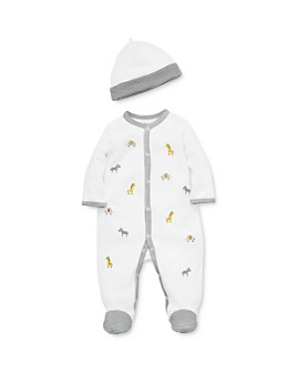 Little Me - Boys' Embroidered Safari Footie & Hat Set - Baby