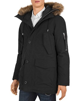 The Kooples - Mix Hooded Parka