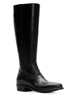 Frye Womens Melissa Button Short Back Zip Boots SZ Leather Country Cowboy Black