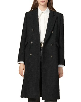 Sandro - Johns Double-Breasted Tweed Coat