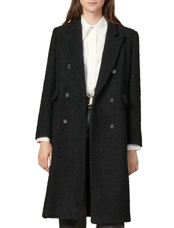 Sandro - Johns Double-Breasted Tweed Coat