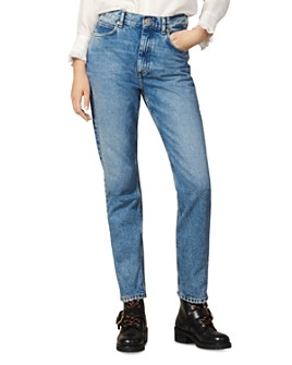 Sandro - Jen High-Rise Jeans in Blue Vintage