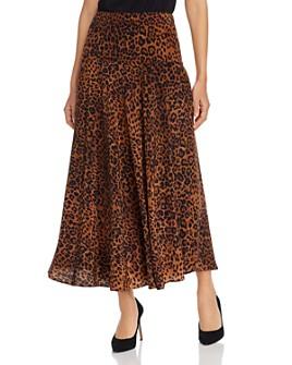 Lafayette 148 New York - Elba Silk Leopard Print Maxi Skirt