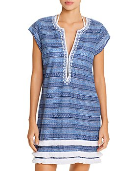 Bleu Rod Beattie - Tiered Hem Dress Swim Cover-Up