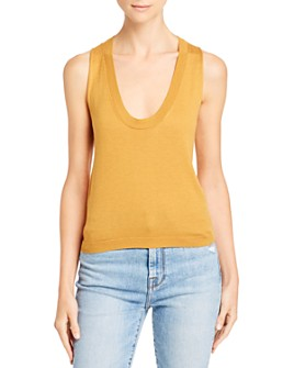 7 For All Mankind - Scooped Knit Tank