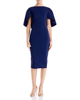 Chiara Boni La Petite Robe - Aniela Cape Scuba Midi Dress - 100% Exclusive