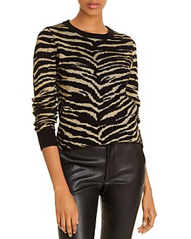 Madeleine Thompson - Cashmere Metallic Zebra Sweater