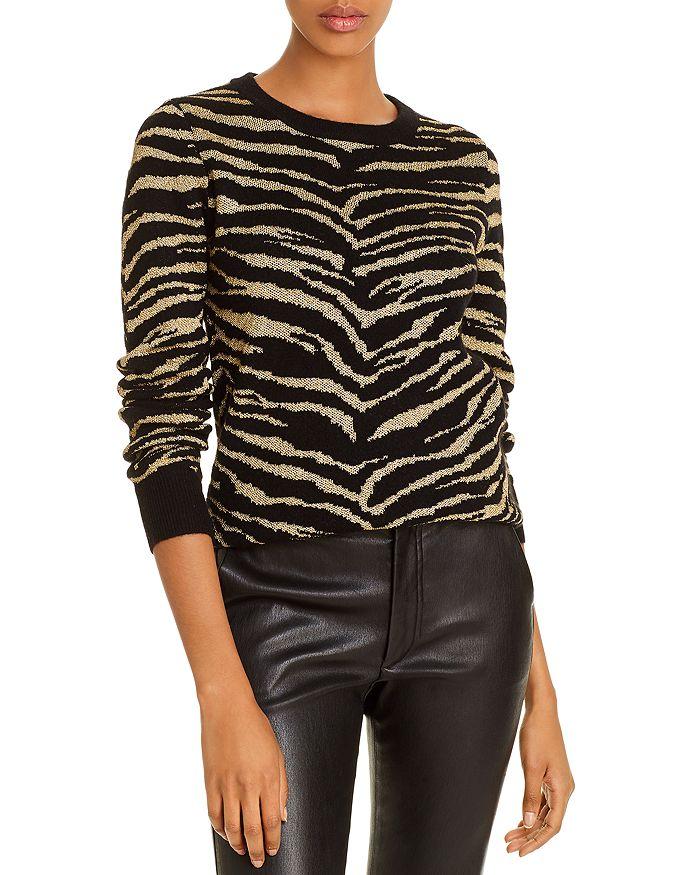 Madeleine Thompson - Cashmere Metallic Zebra Sweater