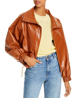 ÁERON - Portia Faux-Leather Bomber Jacket