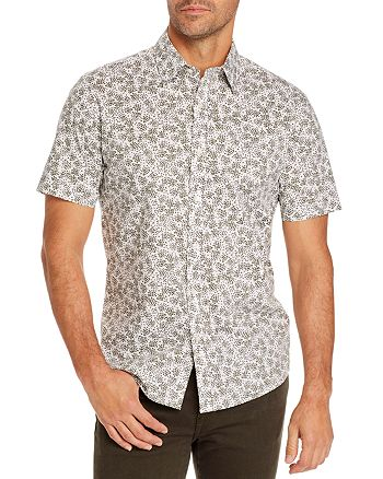 Michael Kors - Splatter Floral Slim Fit Short-Sleeve Shirt