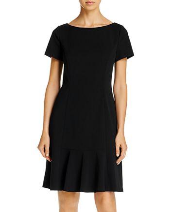 KARL LAGERFELD PARIS - Scuba Crepe Flounce Dress