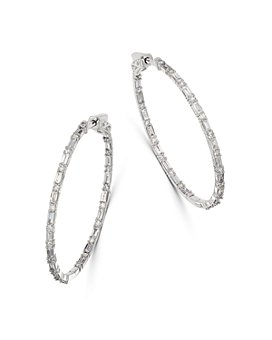 Bloomingdale's - Diamond Inside-Out Hoop Earrings in 14K White Gold, 2.0 ct. t.w. - 100% Exclusive