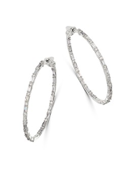 Bloomingdale's - Diamond Inside-Out Hoop Earrings in 14K White Gold, 2.0 ct. t.w. - 100% Exclusive