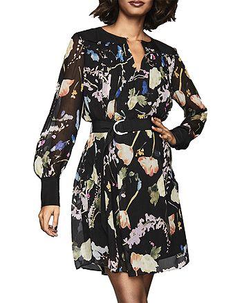 REISS - Finn Floral-Print Dress