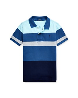 Ralph Lauren - Boys' Striped Color-Block Polo Shirt - Little Kid