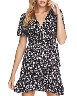 1.STATE - Romantic Vines Mini Wrap Dress