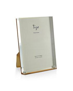 """Tizo - Gold Back Lucite Frame, 5"""" x 7"""""""