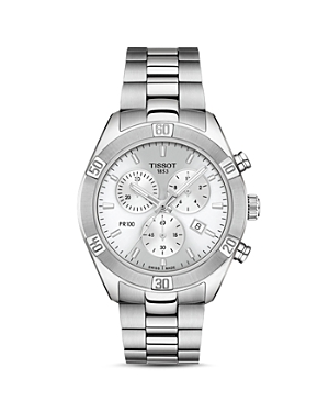 Tissot Pr 100 Sport Chic Link Bracelet Chronograph, 38mm-Jewelry & Accessories