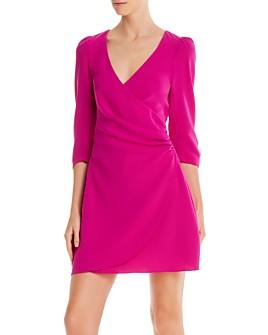 Cinq à Sept - Theo Ruched Faux Wrap Mini Dress