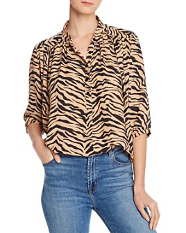 Rebecca Minkoff - Fleur Animal-Print Top