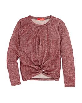 AQUA -  Girls' Twist-Front Sparkle Sweater, Big Kid - 100% Exclusive