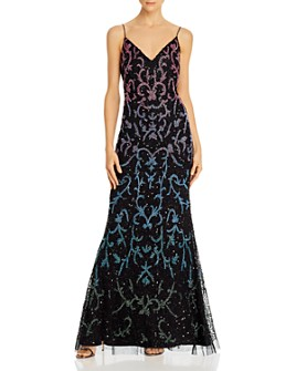 Adrianna Papell - Embellished Mermaid Gown