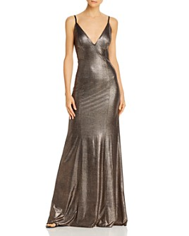 Aidan by Aidan Mattox - Foil Knit Mermaid Gown