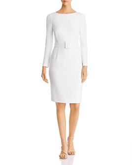 Donna Karan - Scoop-Back Belted Sheath Dress