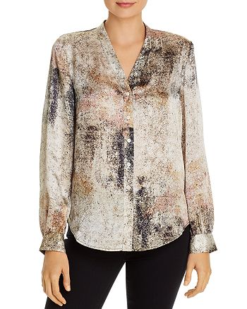 Eileen Fisher Petites - Silk Button-Front Blouse - 100% Exclusive