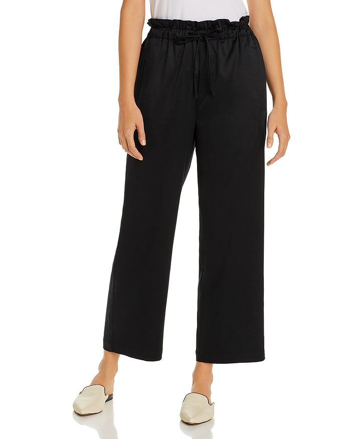 Eileen Fisher - Satin Drawstring Ankle Pants - 100% Exclusive