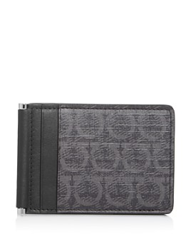 Salvatore Ferragamo - Gancini Print Folding Leather Card Case